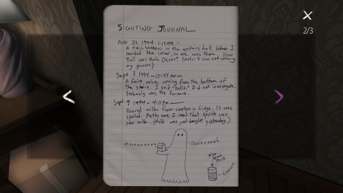 Gone Home's Delightful Documents 3