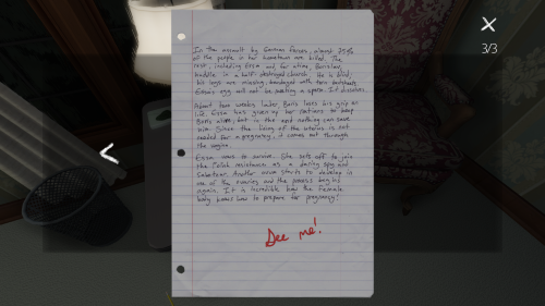 Gone Home's Delightful Documents 4